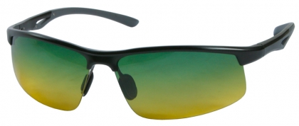 Non Tinted Sunglasses  sporty wrap around metal with grant tinted lens non