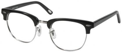 1d7c6b0e63d 1950s Browline full rim metal with plastic temple glasses (medium size)