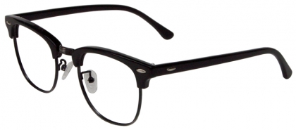 0883551dbdc Vintage browline full rim metal with acetate temple glasses (medium size)