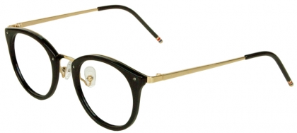 fdc8fe0563 Trendy full rim lightweight acetate round frame with metal temple (medium  size)
