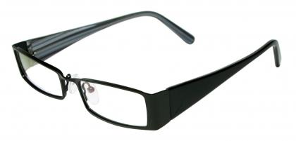 lc100 black - Wide Frame Glasses